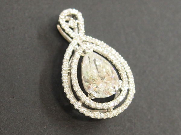 ダイヤモンド 1.337ct  0.35ct  ペンダントトップ  Pt900