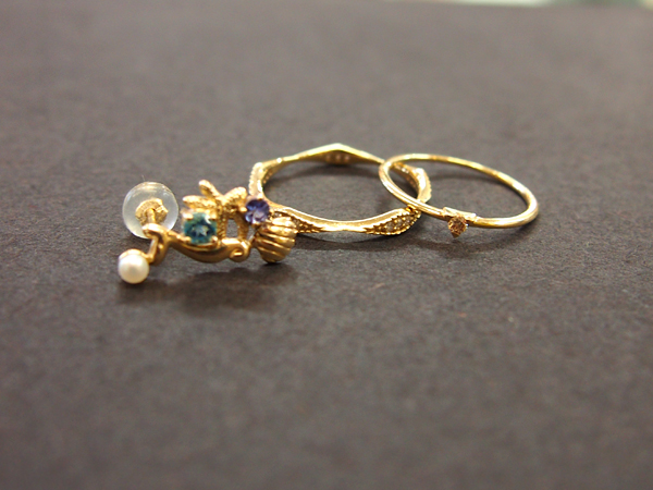 K10 エテ ダイヤモンド ネックレス 指輪 ピアス
