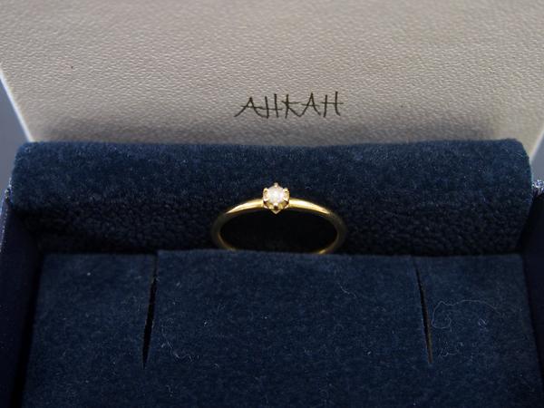 AHKAH K18 ダイヤモンド 指輪