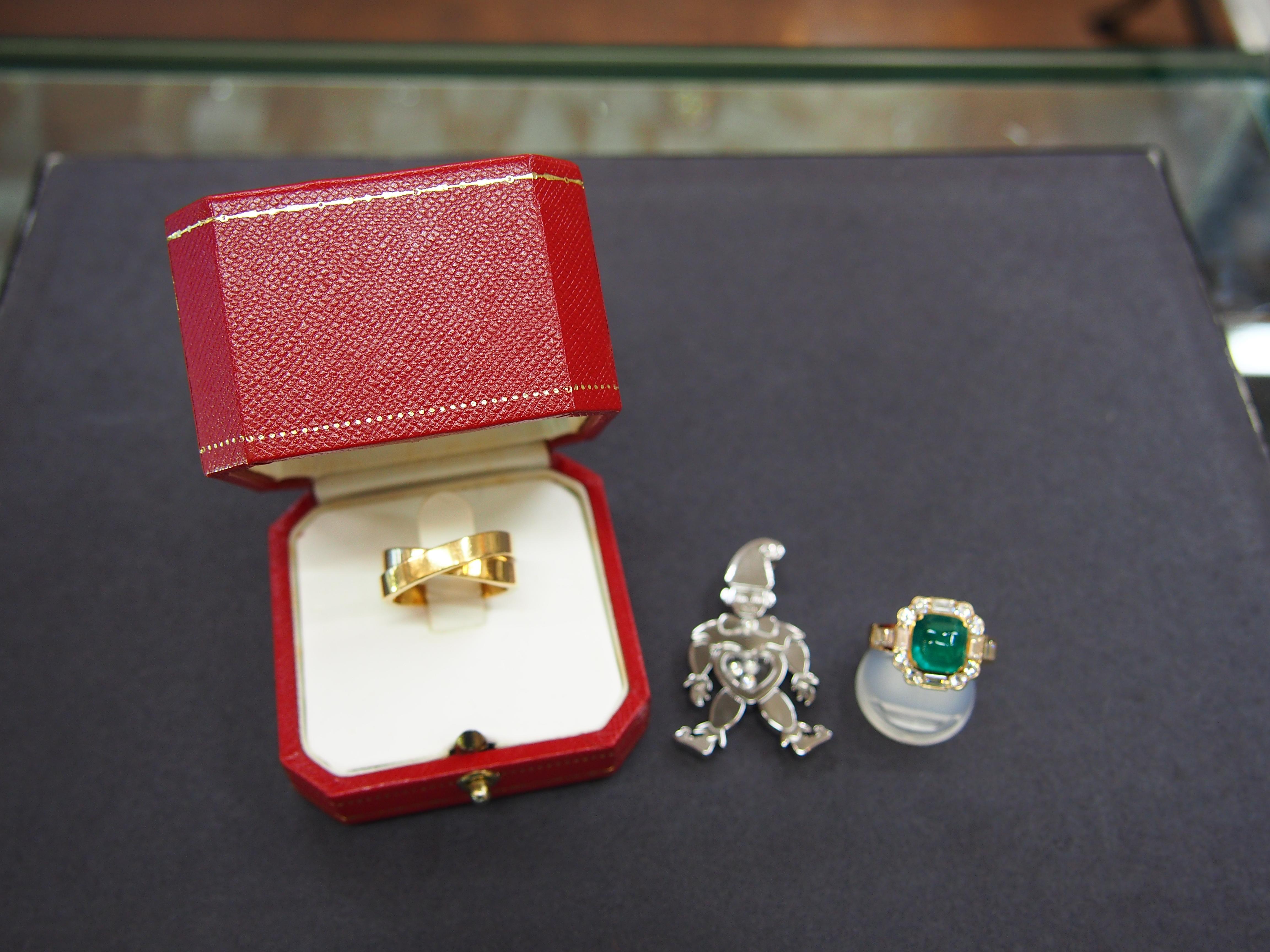 K18 E2.73/D1.32ct 指輪 Chopard Cartier パリリング