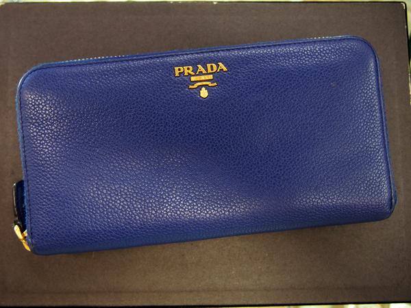 PRADA インクブルー メンズ 財布