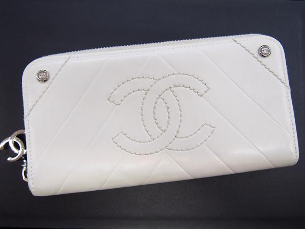 CHANEL ココマーク 白 ホワイト 財布