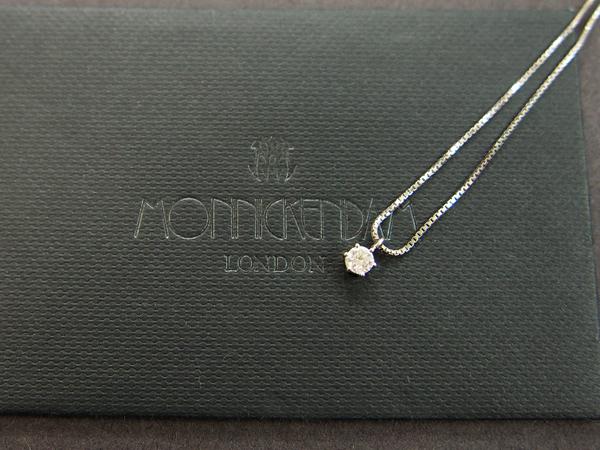 MONNICKENDAM PT900/PT850 ダイヤモンド ネックレス