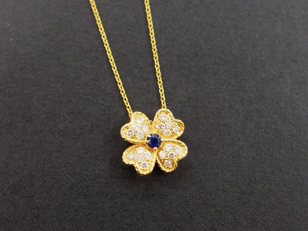 SEIKO K18 YG サファイア ダイヤモンド NC