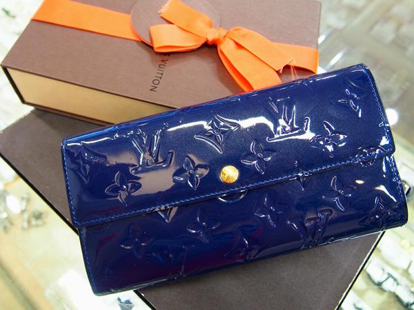 LOUIS VUITTON モノグラム 財布 ブルー