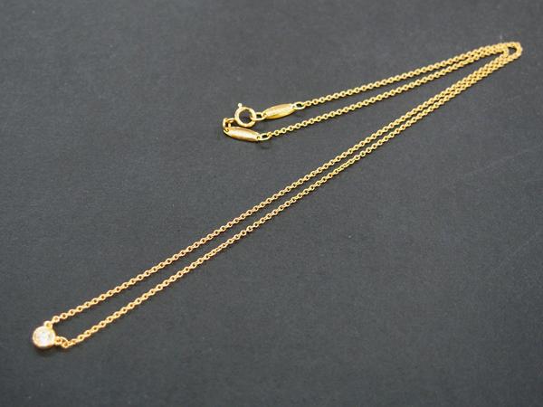 Tiffany & Co K18 PG ダイヤ ネックレス