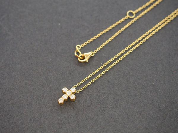 ポンテヴェキオ  K18 十字 ネックレス