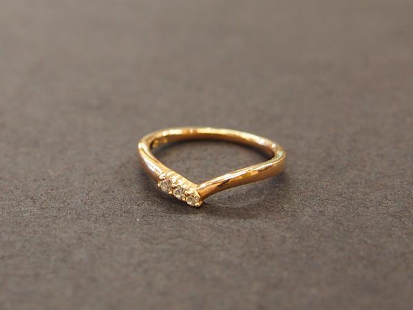 4℃ 18金 ダイヤ  指輪