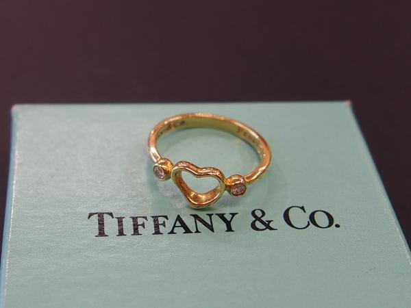 Tiffany & Co K18 YG ダイヤ 指輪