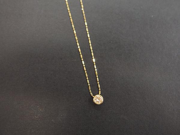 K18 YG ダイヤ necklace