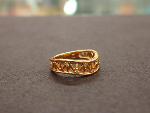 MIKIMOTO K18 YG 指輪