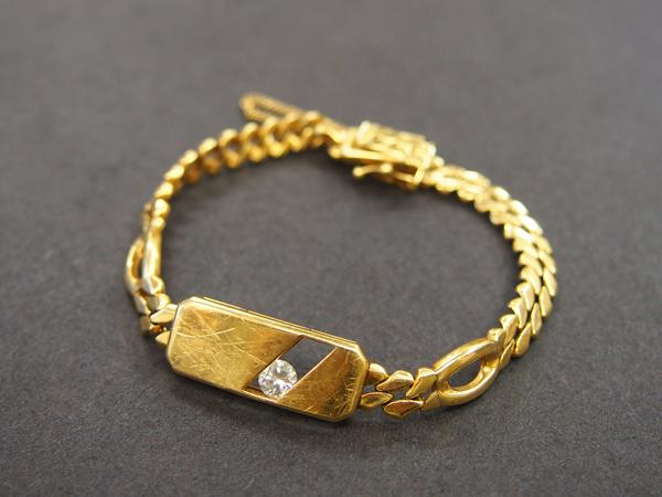 K18 YG ダイヤ ブレスレット