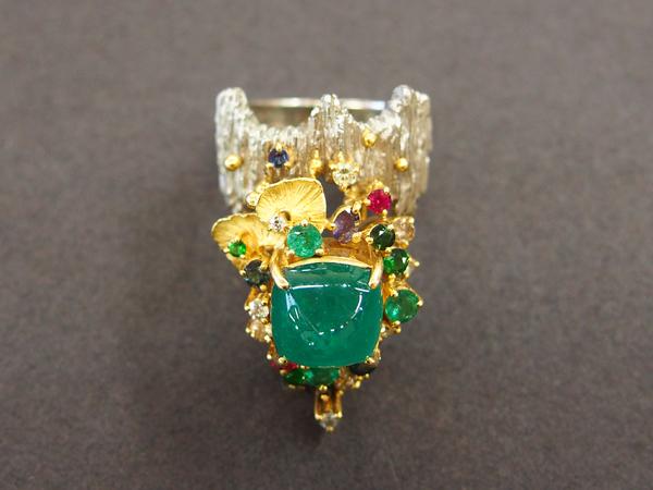国内作家さんジュエリー PT900/K18YG 指輪