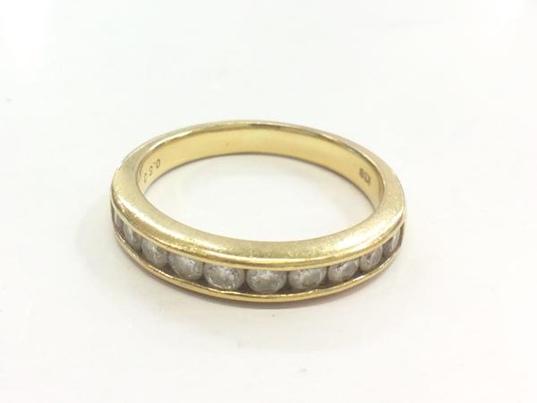 K18YG ダイヤ 指輪