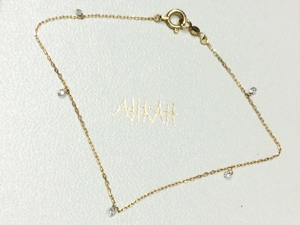 AHKAH K18YG ダイヤ ネックレス