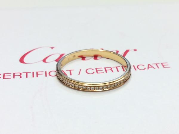 Cartier K18PG 指輪 フルダイヤ