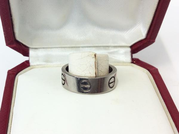 Cartier K18WG 指輪 ラブリング