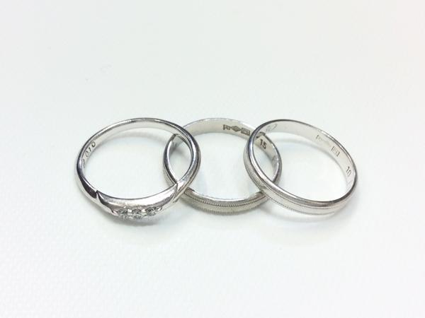 PT900 ダイヤ 指輪 3点