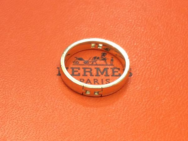 HERMES K18YG 指輪