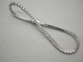 ブレスレット K18WG 8.6g ダイヤ 2.00ct