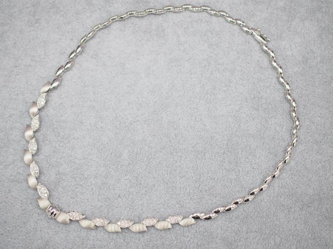 ネックレス K18WG 23.8g ダイヤ 1.00ct