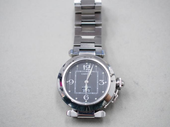 カルティエ パシャC ビックデイト オートマ 腕時計