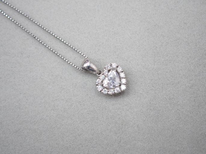 ネックレス Pt900/Pt850 2.7g 0.312 0.10 ダイヤモンド