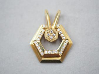 ウォルサム ペンダントトップ K18YG 7.8g ダイヤ