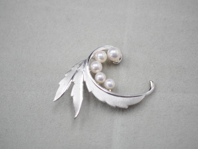 ミキモト ブローチ シルバー 5.8g アコヤ真珠