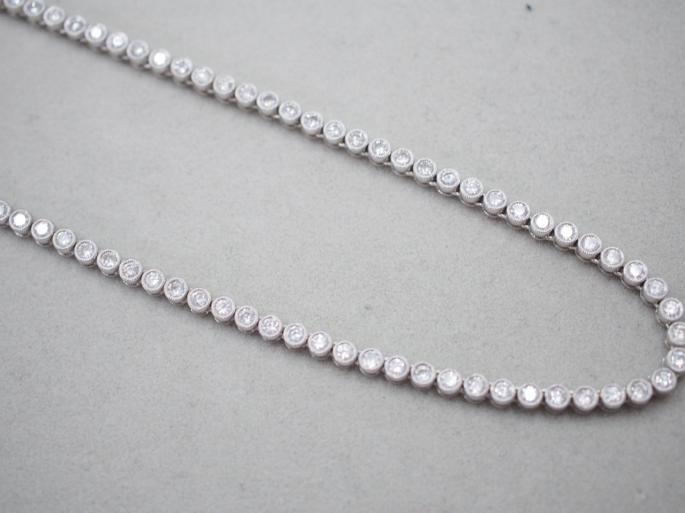 K18WG 30.4g ダイヤ ネックレス