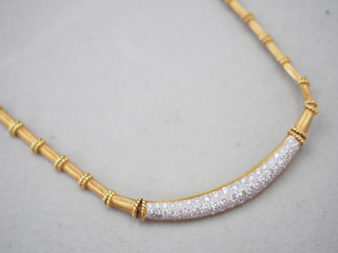 K18YG/WG 34.1g ダイヤ 1.57ct ネックレス
