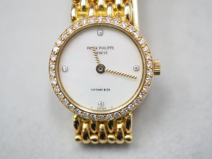 パテックフィリップ 時計 K18YG 44.7g ダイヤ ティファニー Wネーム
