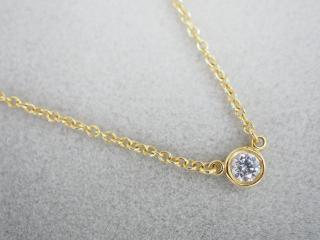 ティファニー ネックレス K18YG 1.9g ダイヤ バイザヤード