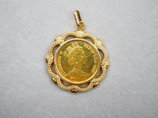 ペンダントトップ K24/K18YG 4.8g 1/10oz コイン