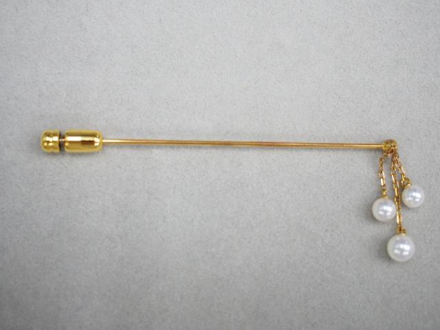 ミキモト ブローチ K18YG 1.7g アコヤ真珠