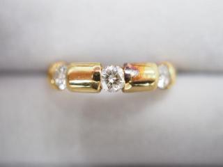 リング K18YG 4.7g ダイヤ 0.50ct