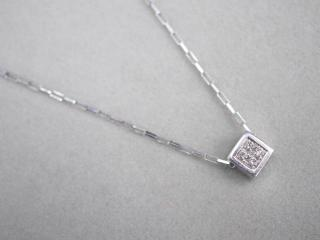 ヴァンドーム ネックレス Pt950/Pt850 5.1g ダイヤ 0.20ct