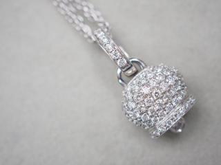 シャンテクレール K18WG 8.0g ダイヤ ネックレス