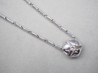 キメント ネックレス K18WG 13.8g ダイヤ