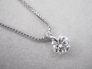ネックレス Pt900/Pt850 4.7g ダイヤ 1.007ct H SI2 G