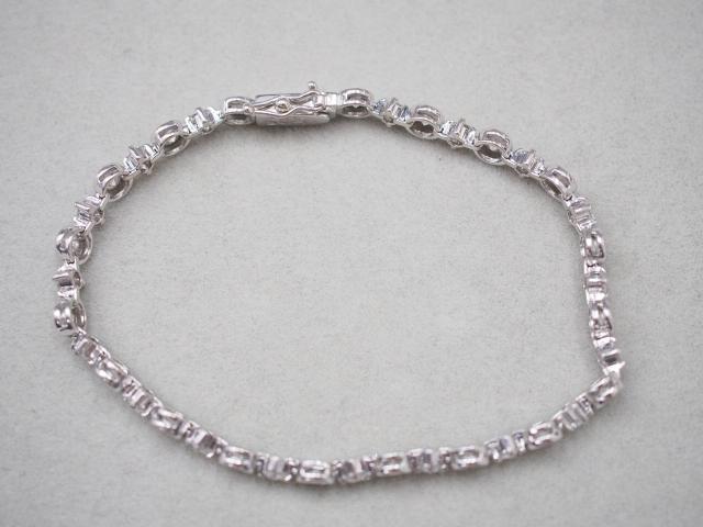 DTC ブレスレット K18WG 10.2g ダイヤ 2.60ct LINE