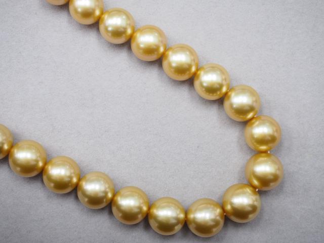 ミキモト ネックレス K18YG 88.0g 白蝶真珠 ダイヤ 0.23ct