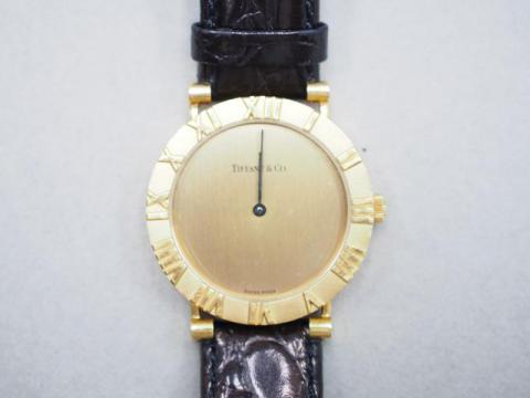ティファニー 時計 K18YG アトラス