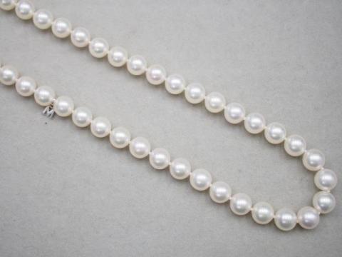 ミキモト ネックレス K14WG 43.4g アコヤ真珠 8.0-8.5mm珠
