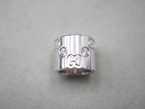 グッチ ペンダントトップ K18WG 5.6g ダイヤ アイコン
