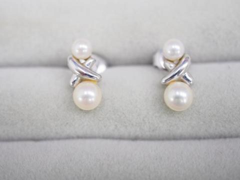 ミキモト ピアス K18WG 2.8g アコヤ真珠