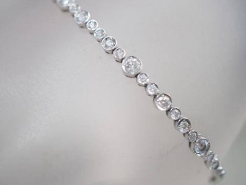 ブレスレット K18WG 9.5g ダイヤ 1.50ct