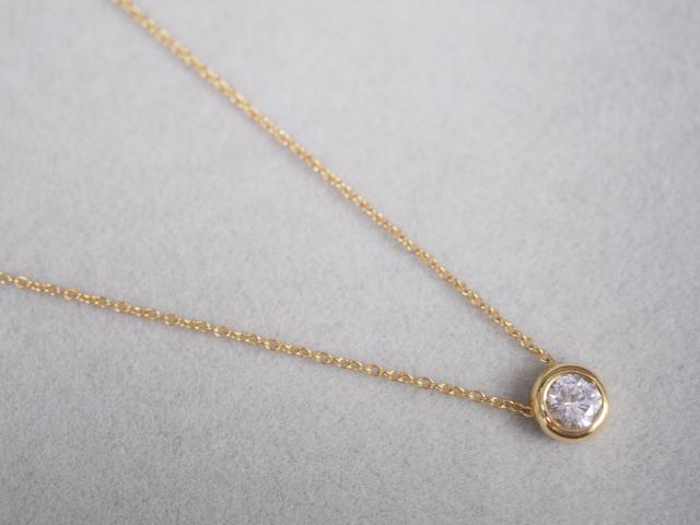 ネックレス K18YG 1.7g ダイヤ 0.34ct