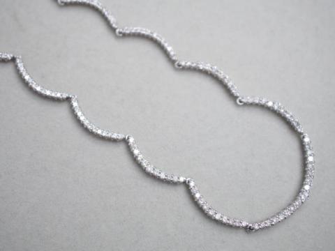 ネックレス Pt850 16.4g ダイヤ 3.00ct
