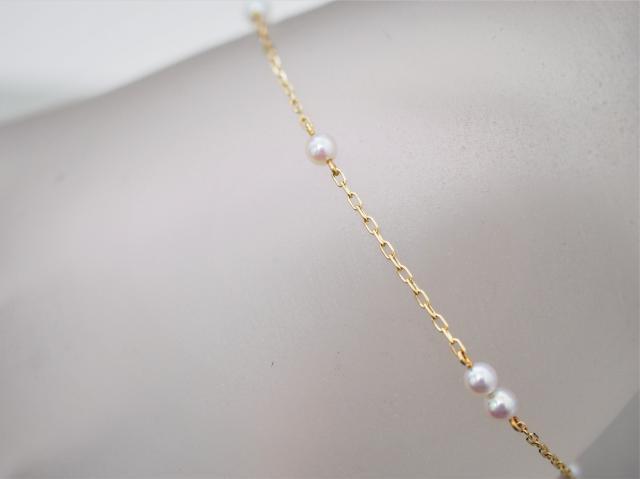 ミキモト ブレスレット K18YG 1.5g アコヤ真珠